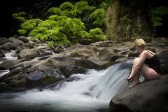 Waterfall Girl. (de.bu) Tags: costa rica girl waterfall water outdoor people nature america mittelamerika backpacking portrait arenal fortuna catarata