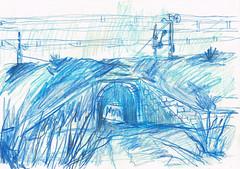 DEBAJO DE LAS VIAS DEL TREN (GARGABLE) Tags: m40 angelbeltrán apuntes sketch drawings dibujos gargable sketchs