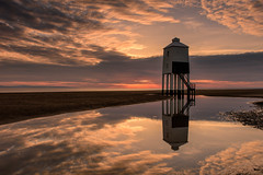 Wooden Lighthouse (Explore 23-4-2017) (Sunset Snapper) Tags: woodenlighthouse sunset burnhamonsea somerset uk beach sand lowtide reflections pools clouds filter lee nd grad nikon d810 2470mm april 2017 sunsetsnapper