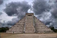 Powerful (Sònia CM) Tags: mexico mejico lumix lumixfz2000 lumixfz2500 rivieramaya chichen chichenitzá maya temple kukulkán clouds cloudy tourist