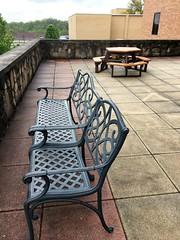 Philippi WV ~ Alderson Broaddus University (karma (Karen)) Tags: philippi wvirginia aldersonbroaddusuniversity benches tables patios iphone hbm