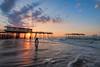 Sun, Sand, Waves and the Pier (Avisek Choudhury) Tags: nikond810 nikon1635mm avisekchoudhury avisekchoudhuryphotography acratechballhead gitzo outerbanks friscopier landscape sunrise northcarolina nc