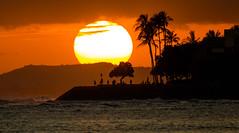 Sunset Ala Moana Beach Park Oahu Hawaii (Anthony Quintano) Tags: sunset paradise hawaii oahu honolulu alamoanabeachpark hawaiianislands vacation travel tourism beach palmtrees sun canonusa