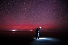 The Lights in the Night (jlstein339) Tags: nikon nikkor 1424 28 d750 fx fullframe tripod longexposure selfie selfportrait outdoors astrophotography astronomy beach ocean outerbanks capehatterasnationalseashore hatteras landscape seascape skyscape nightscape stars lights headlamp portrait me wideangle wideopen colors travel hiking nc