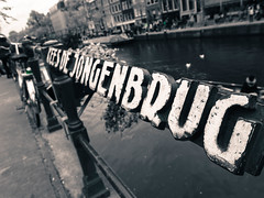 Kees de Jongenbrug (stckrboy) Tags: olympus art reflection day outdoor epl7 penepl7 canal monochrome water keesdejongenbrug pen sign blackandwhite amsterdam olympuspen