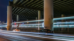 painted over tribute (pbo31) Tags: bayarea nikon d810 color april spring 2017 boury pbo31 urban city lightstream roadway motion traffic ramp highway 280 sanfrancisco california caltrain train rail commuter motionblur overpass night dark black infinity