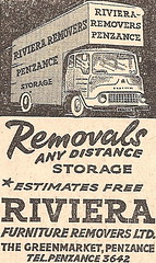 1966 ad. (Sidmouth Ian) Tags: riviera removers removals penzance bedfordtk