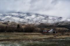 season transitions... (Alvin Harp) Tags: farmhouse farming reddoor oldbarn snowstorm spring winterstorm march 2017 sonyilce7rm2 fe24240mm wintermountains alvinharp reno nevada
