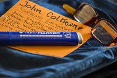 IL JAZZ E' UNA DELLE MIE GRANDI PASSIONI. (FRANCO600D) Tags: macromondays hmm orangeandblue jazz johncoltrane music freejazz musica jeans occhiali titolo idea sax sassofono tratto pennarello canon eos600d sigma franco600d