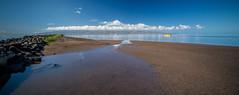Heading Out to Fish (helenehoffman) Tags: beach sand sky sea ocean kamalo harbor molokai hawaii