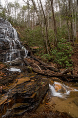 Horsetrough Falls (John Cothron) Tags: americansouth blairsville cpl cothronphotography distagon2128ze distagont2821ze dixie georgia horsetroughfalls horsetroughmountain johncothron southatlanticstates southernregion thesouth us usa unioncounty unitedstatesofamerica zeissdistagont2821ze afternoonlight circularpolarizingfilter clouds cloudyweather cold deadtree falling flowing landscape leaves longexposure lowwaterlevel mountain nature outdoor rock scenic water waterfall winter img16176170227 ©johncothron