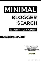 MINIMAL - Blogger Application (CLOSED) (MINIMAL Store) Tags: minimal x blogger search
