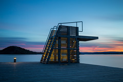 Dive in (©skarson) Tags: oslo norway norge lee leefilters leebigstopper canon canoneos6d eos 6d water ocean dive tower sky sunset colors longexposure nd nd1024