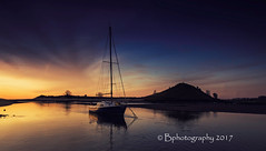 The ' Fin Rod' (baldridge1271) Tags: alnmouth northumberland northeast england yacht seascape sunrise reflections