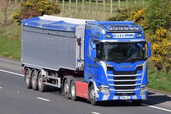 SV66JUJ  WJ & J Green, Corskie (highlandreiver) Tags: wreay sv66juj sv66 juj wj j green corskie garmouth scania truck lorry wagon haulage transport scotland scottish freight m6 carlisle cumbria