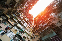 Old apartment (Patrick Foto ;)) Tags: aged apartment architecture asia background block building china city concept copyspace derelict destination dirty district downtown exterior famous ghetto grungy home hong hongkong housing kong life light line living old overcrowded place poor poverty residential retro slum tourist travel urban windows hongkongisland hk