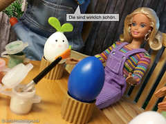 Easter 2017 (alegras dolls) Tags: osterhase ostern easterbunny easter barbie fashiondoll 16scale paintedeggs diorama