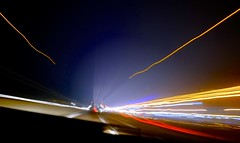 Speed (Max Sat) Tags: atnight autobahn automobile autoroute black blur brillant car cars ciel colorful colors couleurs couloir courbe evening flou français france french fuji fujixe1 gold highway lampe light lights longexposure lumière lumières maxsat maxwellsaturnin night nightlights nuit or orange phares poselongue projecteur rouge soir speed tron vitesse voiture xe1 xf14 bleu blue halo phare