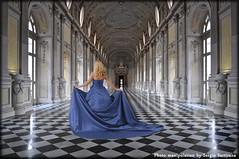 In blu... (celestino2011) Tags: deviantart venaria model interno profonditàdicampo photomanipulation corridoio vetrate