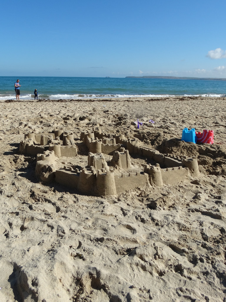Carbis Bay ... sand fortifications.