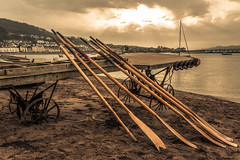 Teignmouth Ladies Rowing Club oars (713ms) Tags: oars rowing oldjetty victorianjetty sand estuary clouds sunrays