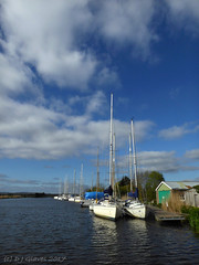 Exeter Canal (ExeDave) Tags: p1050176 exeter ship canal turf locks exminster marshes teignbridge devon sw england gb uk watercourse landscape waterscape clouds sky boats yachts moored moorings basin april 2017 hotel