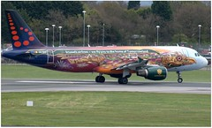 (Riik@mctr) Tags: manchester airport egcc oosnf brussels airlines airbus a320 msn 2810 tomorrowland livery amare ex eidet
