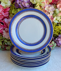 Antique Early 19c Spode New Stone Luncheon Plates ~ Cobalt Gold (Donna's Collectables) Tags: antique early 19c spode new stone luncheon plates ~ cobalt gold