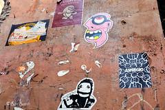 Roma. Trastevere. Street art by K2m, Merioone, Tzing Tao, Guaro, A.Sfregio (R come Rit@) Tags: italia italy roma rome ritarestifo photography streetphotography urbanexploration exploration streetart arte art arteurbana streetartphotography urbanart urban wall walls wallart graffiti graff graffitiart muro muri artwork streetartroma streetartrome romestreetart romastreetart graffitiroma graffitirome romegraffiti romeurbanart urbanartroma streetartitaly italystreetart contemporaryart artecontemporanea artedistrada underground trastevere rionetrastevere poster posterart colla glue paste pasteup guaro jesusromero k2m kappa2emme merioone tzingtao asfregio