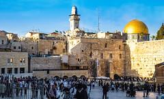 the Western Wall (werner boehm *) Tags: wernerboehm westernwall klagemauer israel jerusalem felsendom rockdome
