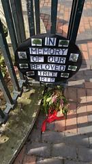 In memory of our beloved tree RIP - Broad Street, Birmingham (ell brown) Tags: birmingham westmidlands england unitedkingdom greatbritain londonplanetree centenarysquare sign inmemoryofourbelovedtreerip johnbull broadst