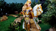 Queen Hippolyta and horse (CMUltra) Tags: lg v20 wonderwoman 2017 movie queenhippolyta mattel barbie 16 custom diorama park scene