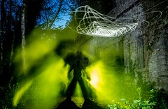 They're here (In=Sight) Tags: lightpainting longexposure lightart mells industrial abandoned ruins nophotoshop
