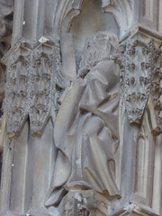 St Andrew (Aidan McRae Thomson) Tags: worcester cathedral worcestershire medieval carving statue sculpture
