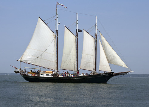 yorktown pirate festival virginia schooner alliance sail boat ship sailing sails ships water gaffrigged history wood wooden 3 masted mast
