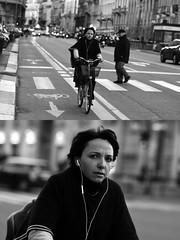 [La Mia Città][Pedala] (Urca) Tags: milano italia 2017 bicicletta pedalare ciclista ritrattostradale portrait dittico bike bicycle biancoenero blackandwhite bn bw 993136 nikondigitale scéta