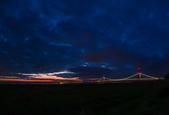 The Thunder of the Severn Bridge (RS400) Tags: severn bristol bridge sky cool wow wicked clouds dark orange southwest sunset su golden hour landscape olympus