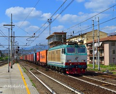 "E633.234 (Michael Carli - ""mike97tigre"") Tags: e633 e633234 tigre mercitalia rail mir trenitalia cargo fs ferrovie dello stato locomotive italiane mike97tigre tc treno container rubiera livorno darsena livrea xmpr linea direttissima ferrovia firenze bologna stazione prato centrale trainspotting freight trains treni merci italia italy toscana"