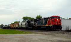 17M with CN 2437 (D8-40CM) leading at Kendallville Indiana (Matt Ditton) Tags: cn kendallville indiana train railroad