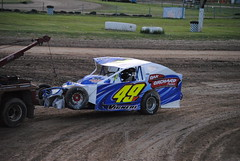 Big impact (Joe Grabianowski) Tags: street ny cars stock racing dirt modified oval ransomville dirtcar