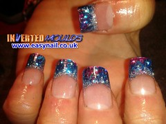 Cheryl Purple Blue Silver Glitter (invertednailsystems) Tags: uk pink orange black art yellow glitter training silver gold amazing neon pretty im nail powder course nails salon technician extension inverted false ims extensions nailart courses moulds enuk invertednailsystems easynail easynailuk