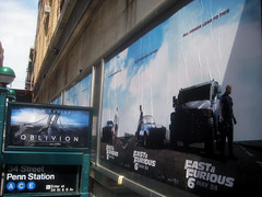 Fast and Furious 6 Billboard ADs  0213 (Brechtbug) Tags: new york city nyc urban 6 cinema cars up car racecar work painting movie poster square this drive smash paint theater driving all action crash near working fast racing billboard advertisement chase billboards worker roads em six lead herald furious 2013