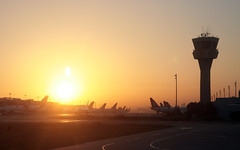 Early morning in Istanbul Atatrk airport (roomman) Tags: morning light orange sun colour yellow sunrise ball turkey early airport colours transport flight jet transportation airline planes airbus lh rise ist lufthansa fra airliner dlh speyer atatrk sunstar a321 eddf aisc 2013 yesilkoy airbusa321 airbus321 ltba daisc