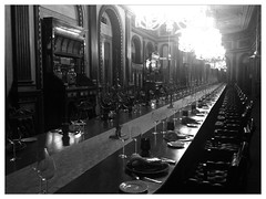 101-seater dining table at Falaknuma Palace (teemus) Tags: tajfalaknumapalace uploaded:by=flickrmobile flickriosapp:filter=panda pandafilter