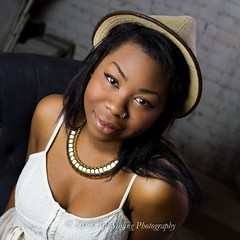 Erin Olivia III (Don3rdSE) Tags: portrait woman black hot cute sexy beautiful hat canon eos model eyes dress legs young posing iowa teen ia 7d stunning april africanamerican cleavage desmoines 2013 modelmayhem canon7d don3rdse mystudioby