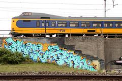 graffiti (wojofoto) Tags: amsterdam graffiti wojofoto train trackside trein twice gear westerpark wolfgangjosten nederland netherland holland