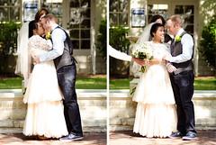 """He's alllll mine."" (Shari Alisha) Tags: wedding love smile groom bride veil lace husbandandwife husband wife bouquet weddingdress firstkiss"