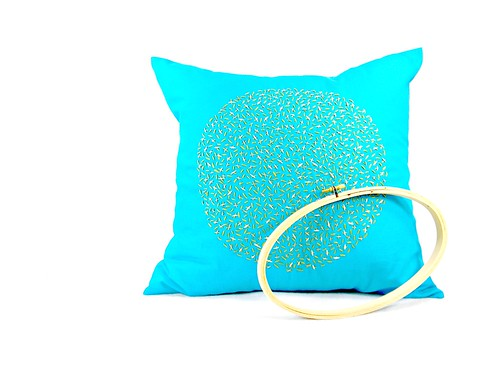sprinkles homedecor handembroidered decorativepillowcover zaarly turquoisepillow