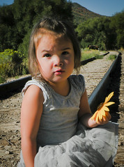 DSCN2510 (family.burke) Tags: summer people nature girl kids train utah annabelle traintracks sunflower soldiershollow