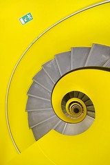 Spiral (Eric Dufour photographies) Tags: urban yellow switzerland graphics staircase